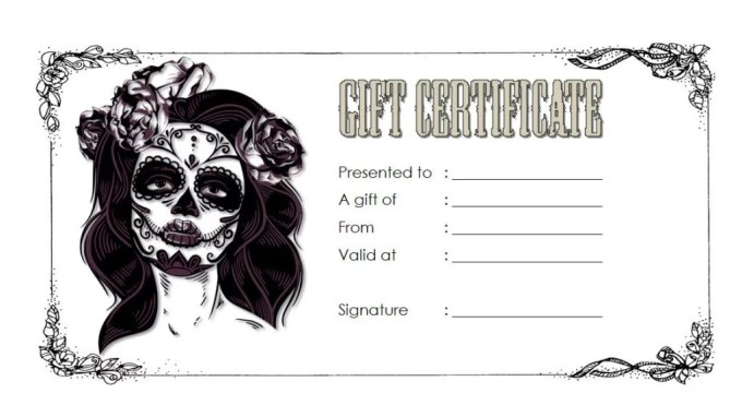 Tattoo Gift Voucher Template Free Creativepoem Co