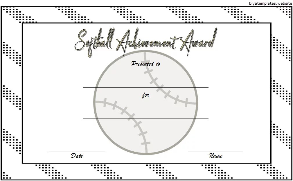 Printable Softball Certificate Templates [10+ Best Designs