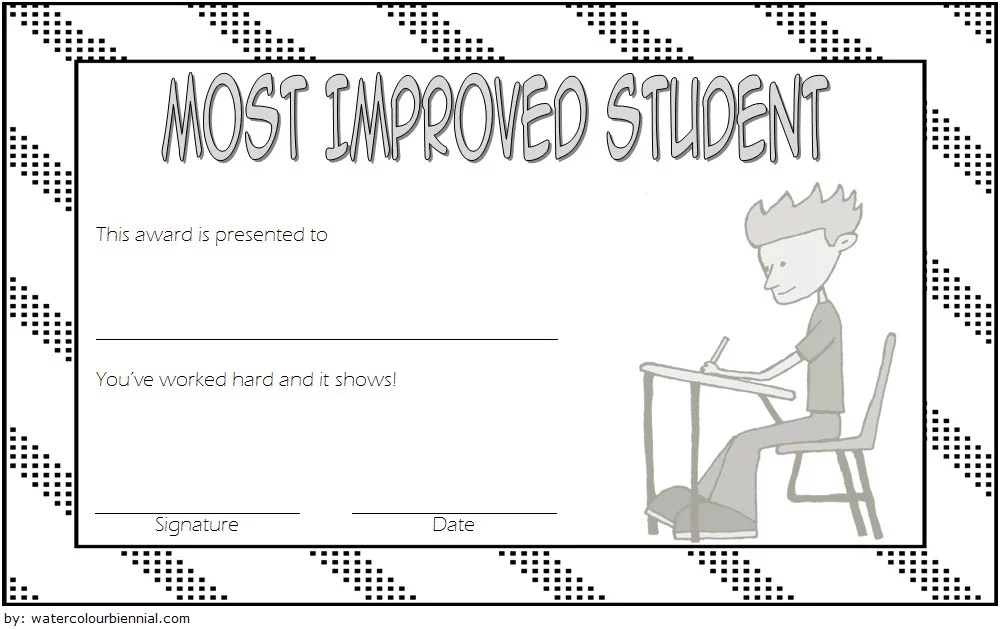 Most Improved Student Certificate: 10+ Template Designs FREE