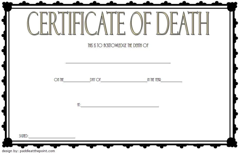 Death Certificate Template Free Download [7+ NEW DESIGNS]