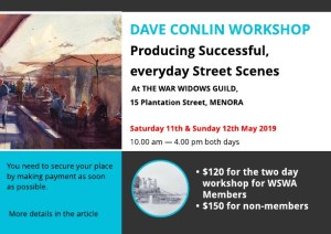 Dave Conlin Workshop - 11 & 12 May 2019