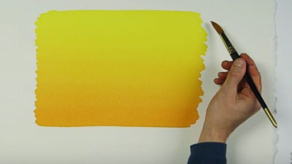 How to create a graded watercolour wash