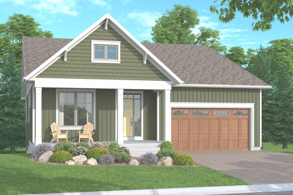 An illustration of the Newboro Bungalow at Watercolour Westport