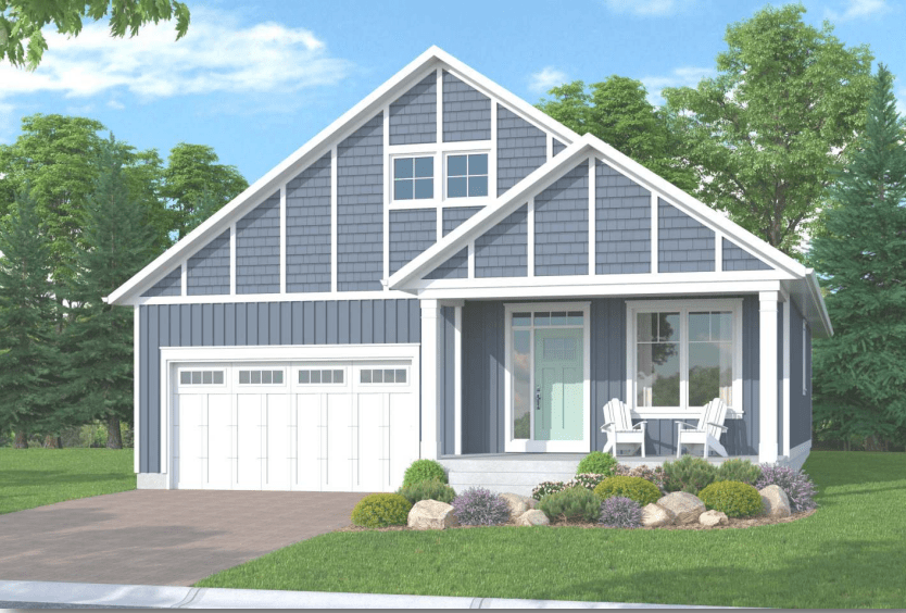 An illustration of the Sydenham Bungalow at Watercolour Westport