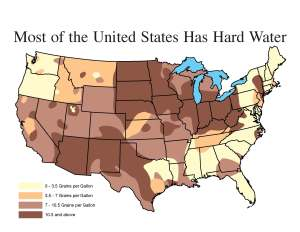 United States Water Hardness