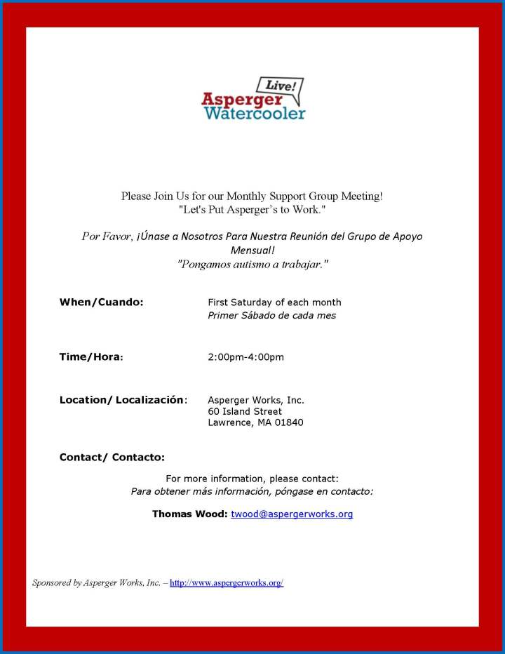 Support Group Flyer