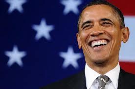 pres obama smiling