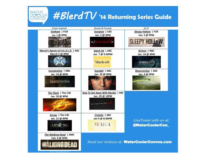 BLERD TV RETURNING SERIES CALENDAR