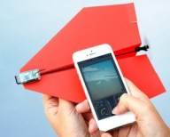 Smartphone paper airplane
