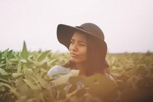 black woman field