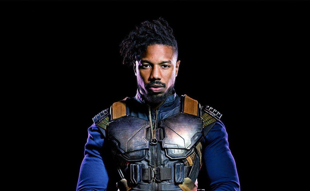 """Michael B. Jordan as Erik """" Killmonger"""" Stevens akaPrince N'Jadaka"""