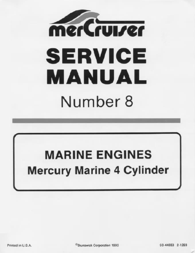 Mercury Mercruiser Sterndrive Outdrive Jetdrive Shop Manuals
