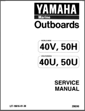 Yamaha LIT-18616-01-38 Outboard Service Repair Manual