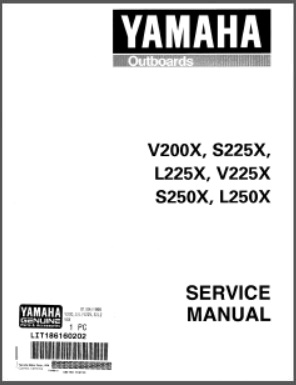 Yamaha LIT-18616-02-02 Outboard Service Repair Manual