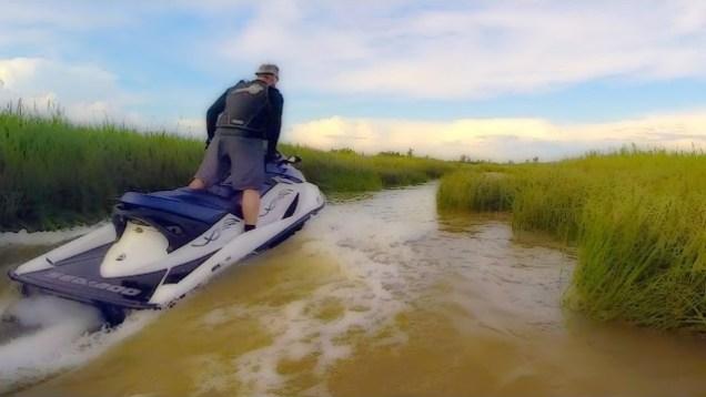 Jet Ski Snaking in the Swamp