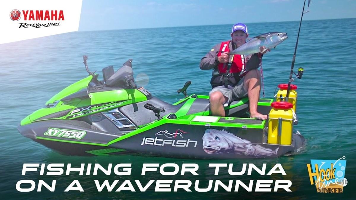 Gone fishing for tuna on a yamaha fx svho waverunner for Jet ski fishing accessories