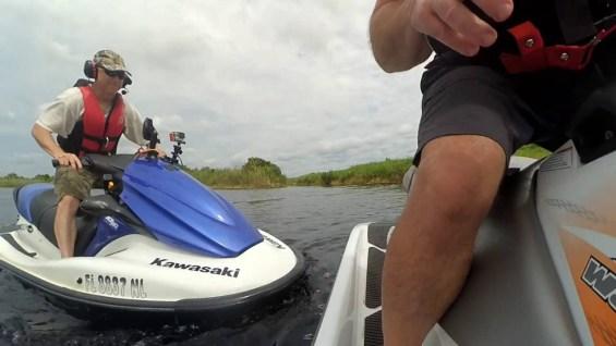 Airboat Trail Mishaps on a Jet Ski
