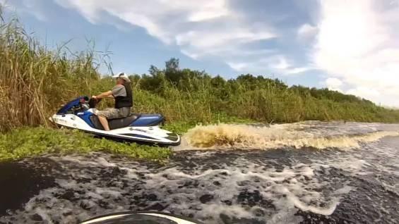 Fast JetSki Ride in Tight Twisty Canals