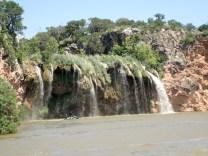 Lake Buchanan Texas riding Jetskis to the Water Falls.