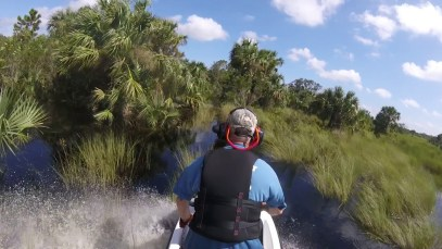 Jetski Hurricane Irma-Flooded Airboat Trails