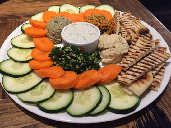 plate of vegetables