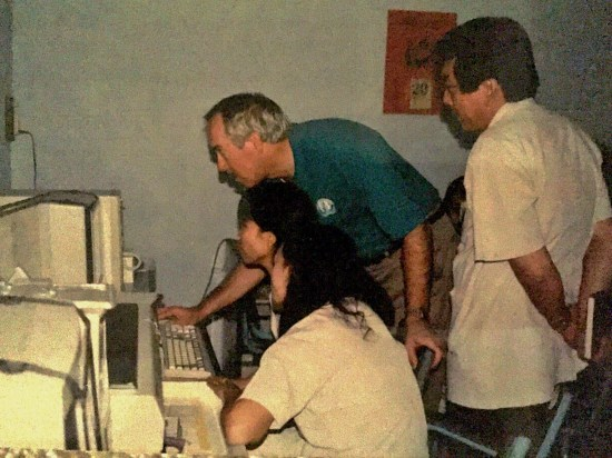 people looking at computers