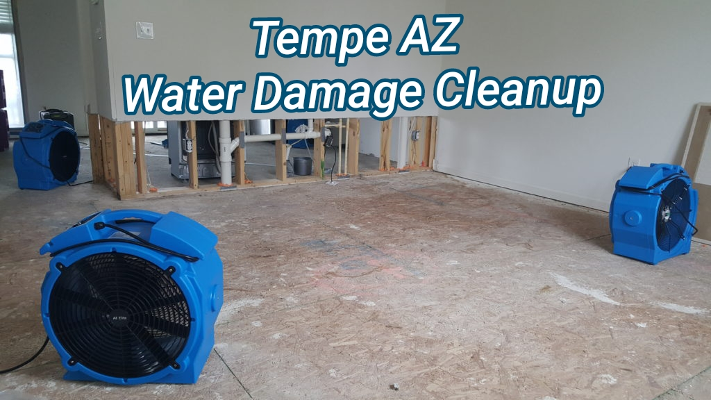 Tempe AZ water damage cleanup