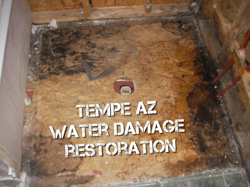 Tempe AZ water damage restoration