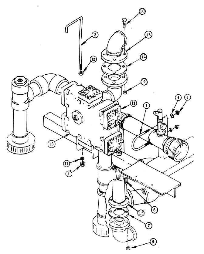 Figure 3-39. Multimedia Filter Control Valve Piping Assembly