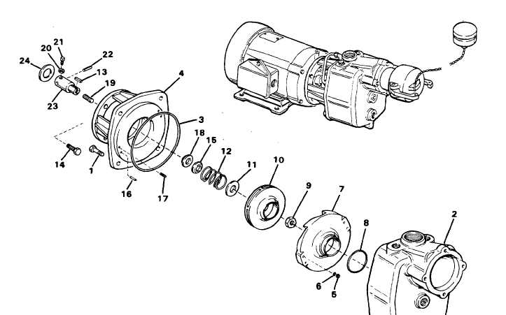 Figure 2-13. Raw Water Pump Disassembly and Reassembly