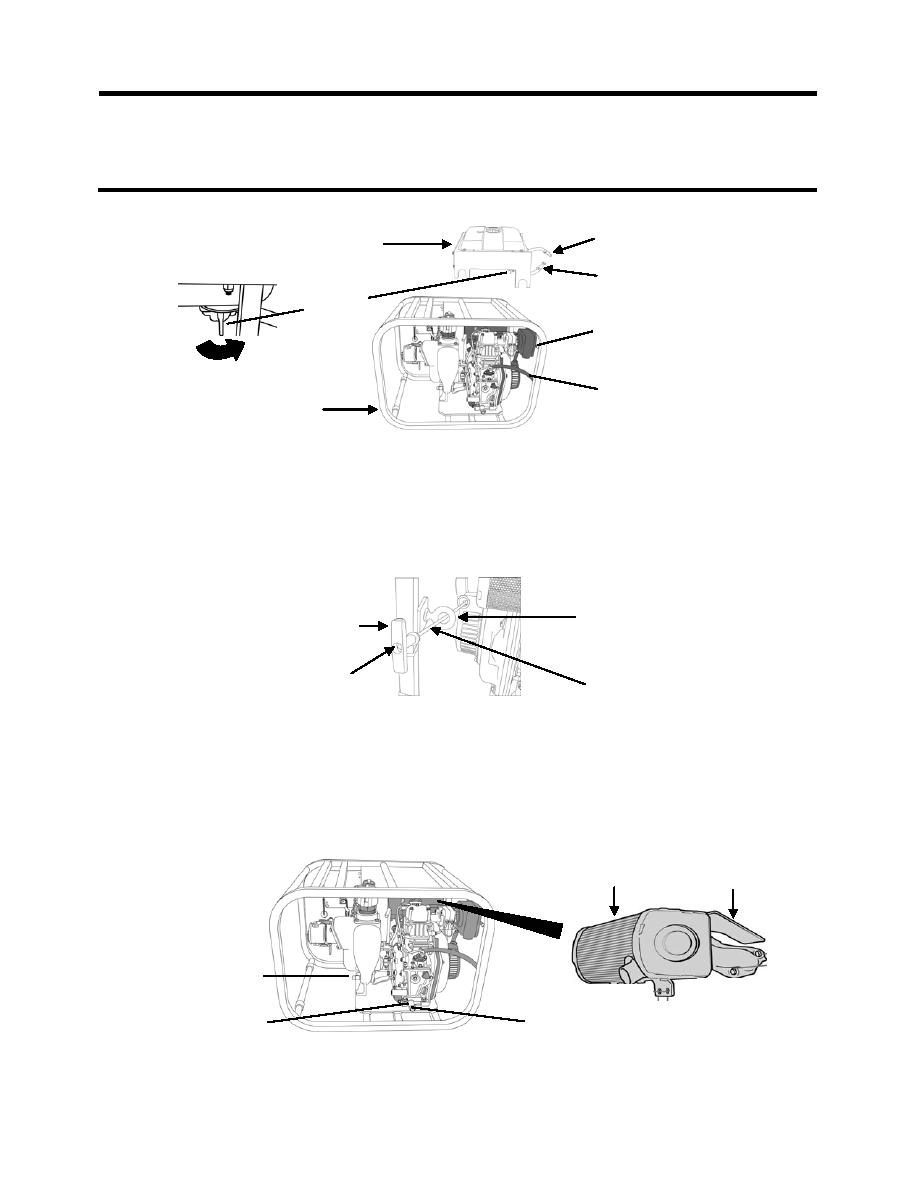 Figure 1. Diesel Engine Fuel Tank Assembly Removal.