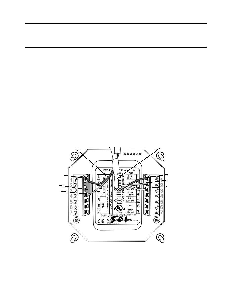 Figure 2. Flow Transmitter Wiring Terminal Designations.