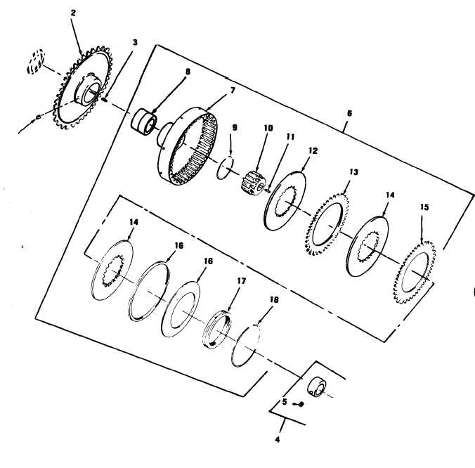 Figure 68. Slip Clutch Assembly and Sprocket (MET-PRO