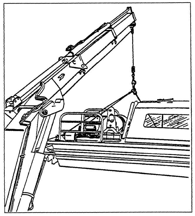Figure 10-13. Bow Crane Lifts Workboat with Three-Point