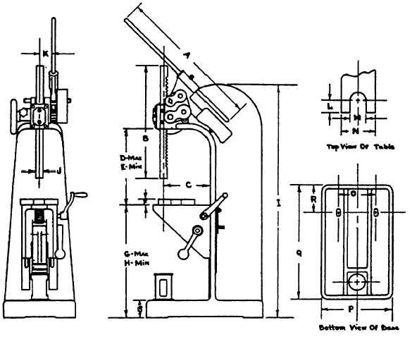 DATA SHEET No. 7-B ARBOR PRESSES-FLOOR MODELS