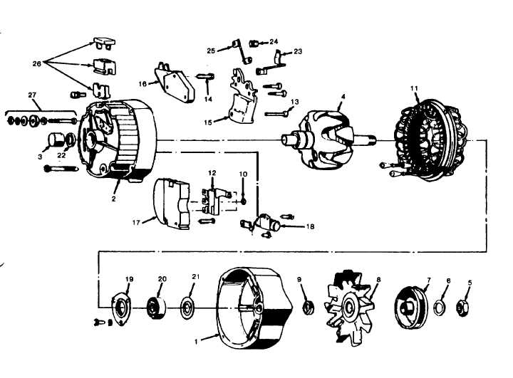 Figure 5-7. Delcotron Alternator Illustrated Parts.