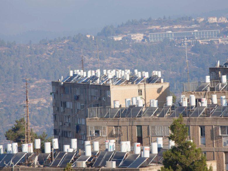 Solar water heaters in Jerusalem, Israel.