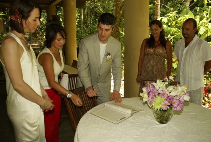 Intimate Waterfall Wedding
