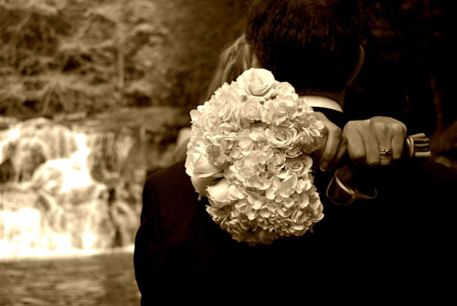 Inexpensive Elopement packages at a waterfall wedding