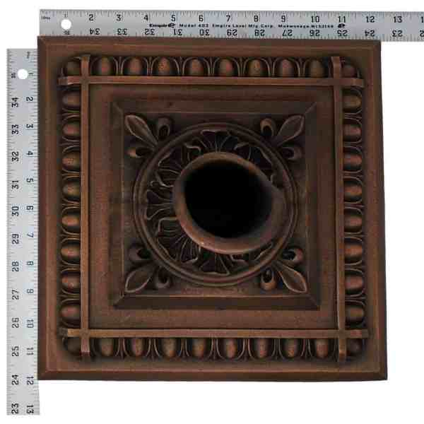 Oak Leaf Bronze Fountain Scupper Withapollo Backplate