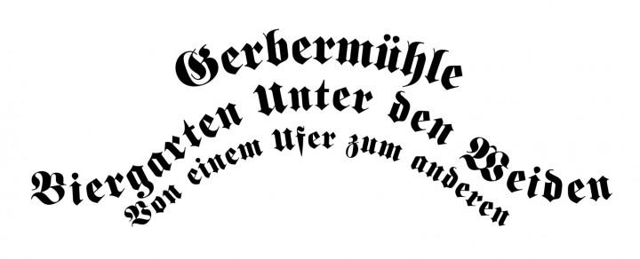 Gerbermuhle: Biergarten Unter den Weiden