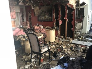 Fire Damage house in Nassau County