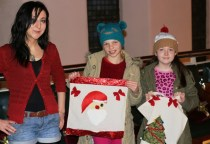 Christmas Tote bag workshops with Work House Studios