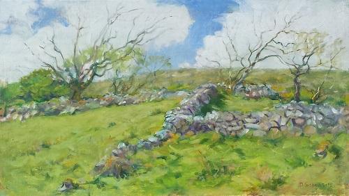 damaris-lysaght-old-sward-cooryvanaheen-oil-on-canvas-on-panel-37x52cm-framed
