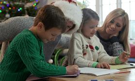 Kids Writing at Xmas