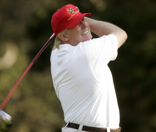 The Golfing World Was Said To Be In Shock Today Following News That Us President Donald Trump Has Secured A Place In The  Pga Tour With Him Expected To