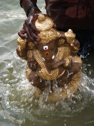 Ganesh in Lake