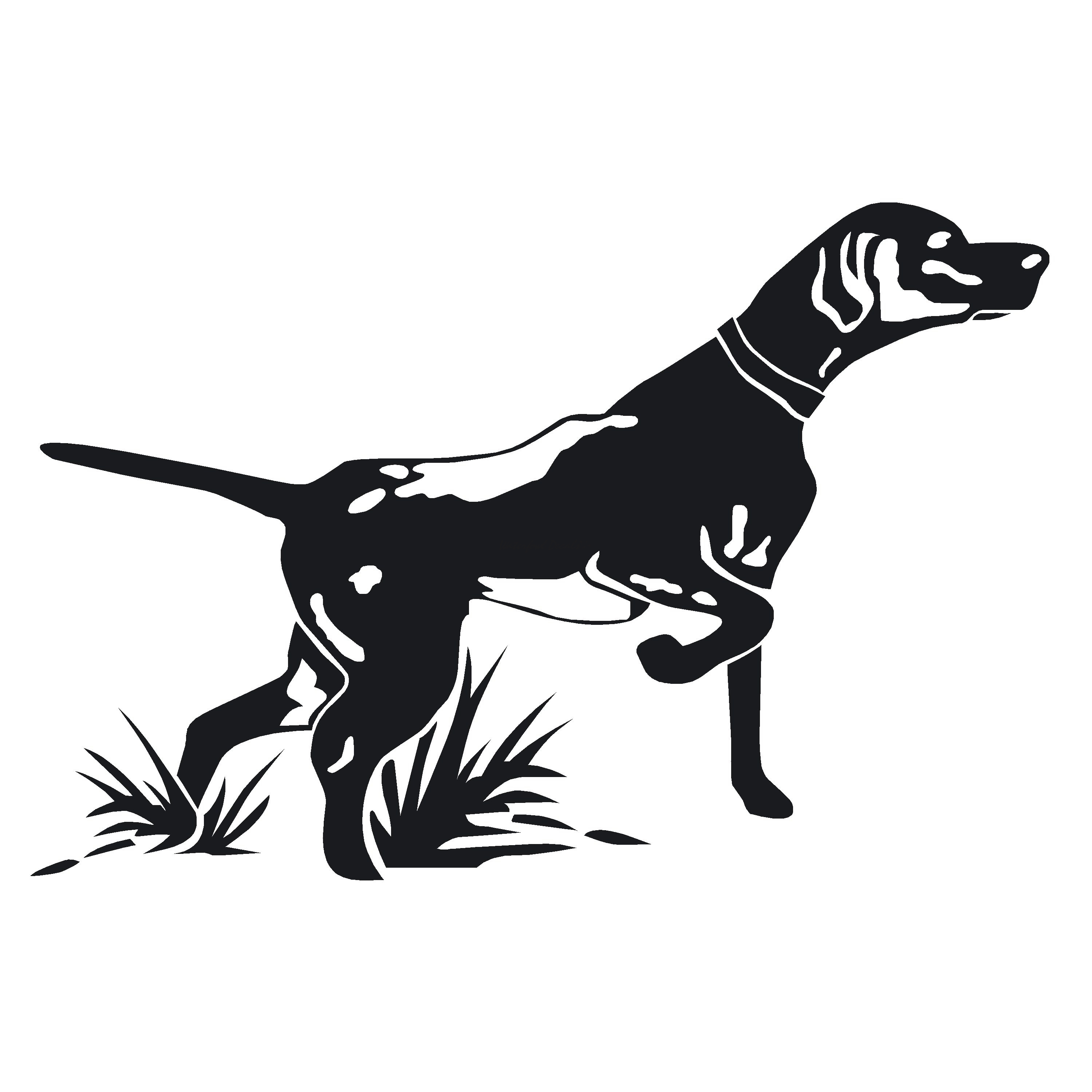 Pointer On Point Hunting Dog Decal