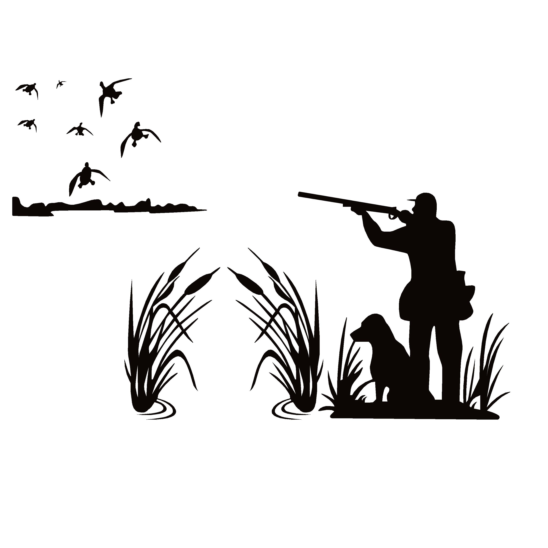 Duck Hunter Field Scene Decal Duck Hunter In Field Scene