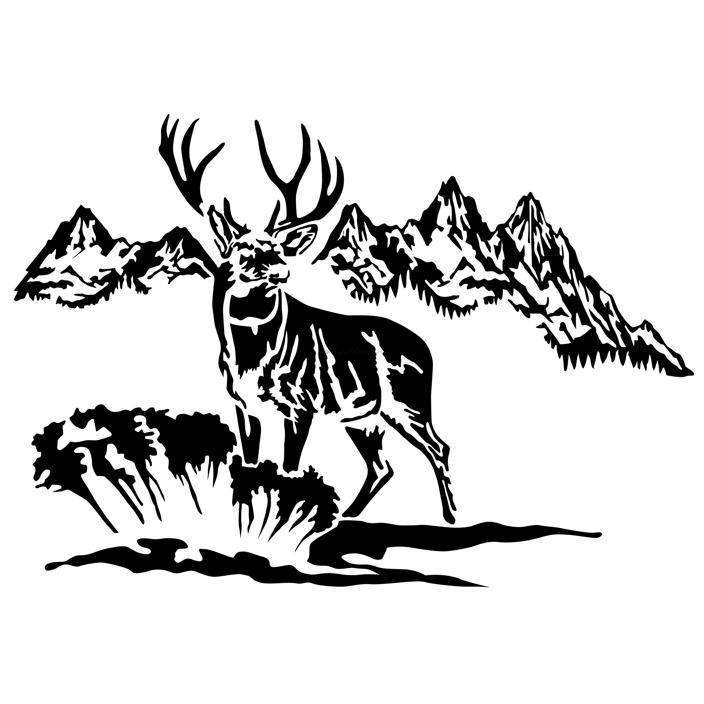 Deer Hunting Scene Decal